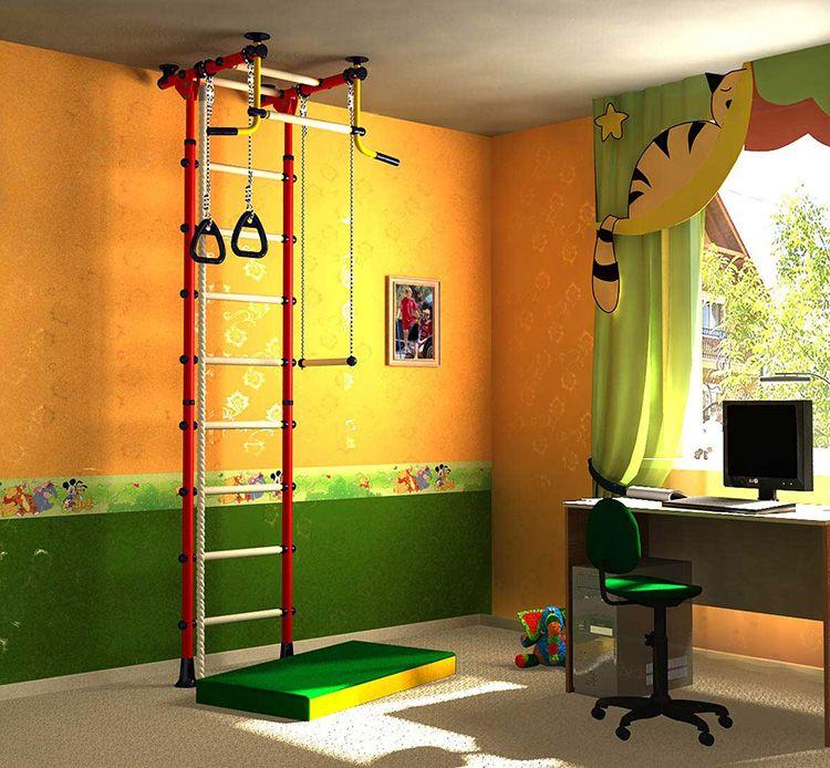 Шведская стенка − универсальный спортивный тренажёр для малогабаритных квартир