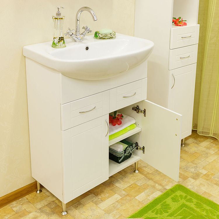 Тумба под раковину – не только украшение интерьера, но и хорошее место для хранения вещей