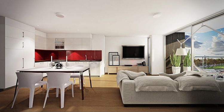 Студия и апартаменты имеют свободную планировку, но первая причислена к жилому фонду