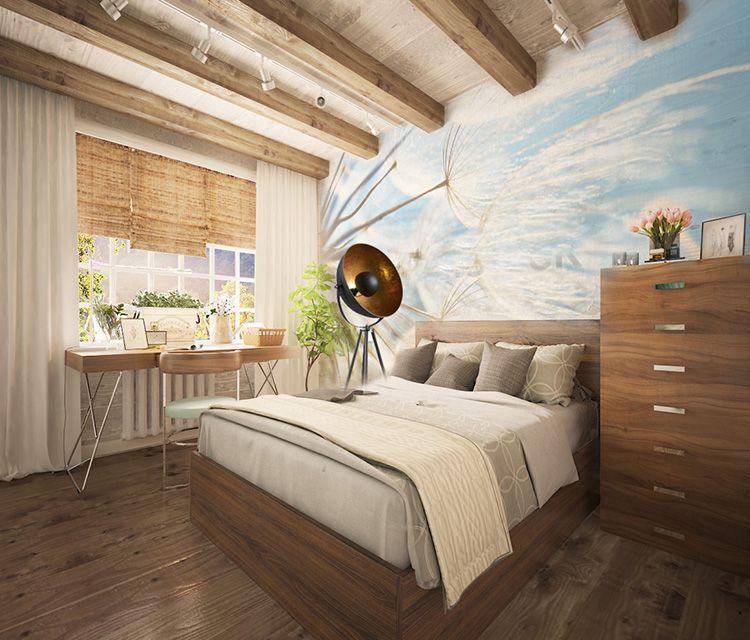 Чтобы хорошо отдохнуть, спальня должна быть выдержана в спокойных тонах