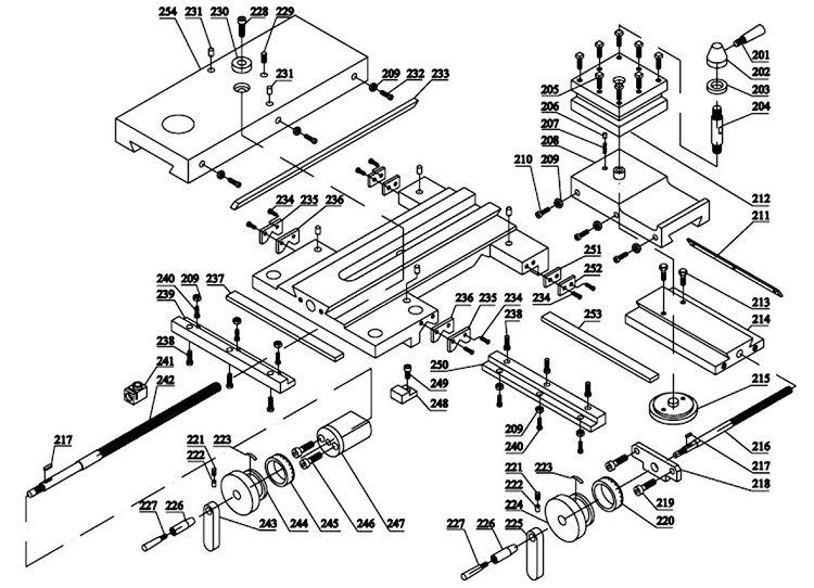 Деталировка суппорта и резцедержателя
