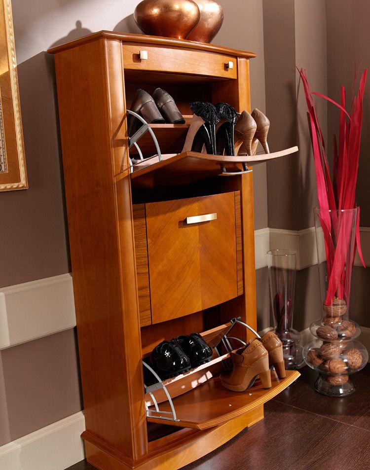 Удобная система хранения: обувница в прихожую