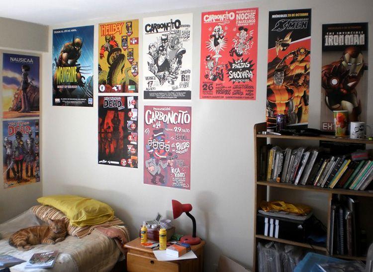 Постеры в интерьере комнаты подростка