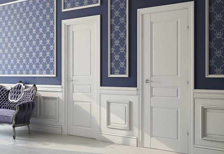 Белые двери в классическом интерьере