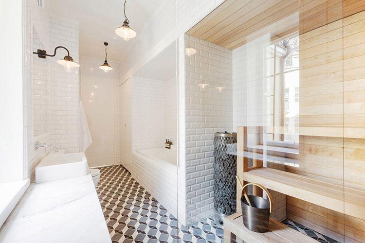 Сложно представить скандинавский дом без сауны, пусть и маленькой