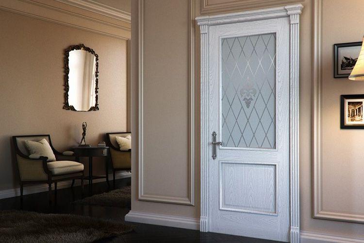 Фото дверей «белёный дуб» в интерьере квартиры