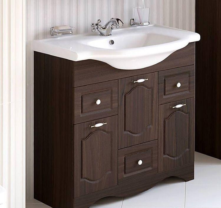 Тумба с раковиной 80 см для ванной комнаты
