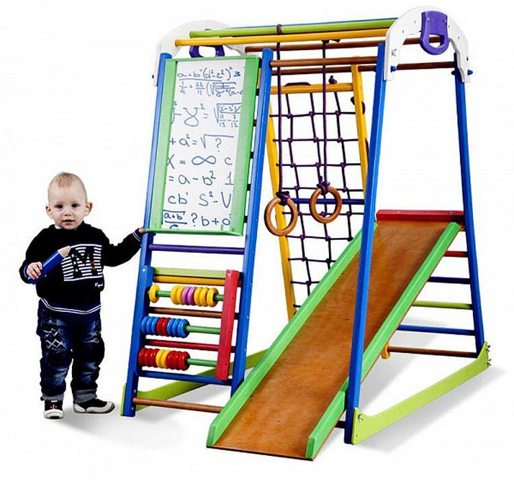 Шведская стенка в составе игрового комплекса для малышей