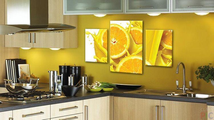 Картина сочетается с цветовой гаммой кухни