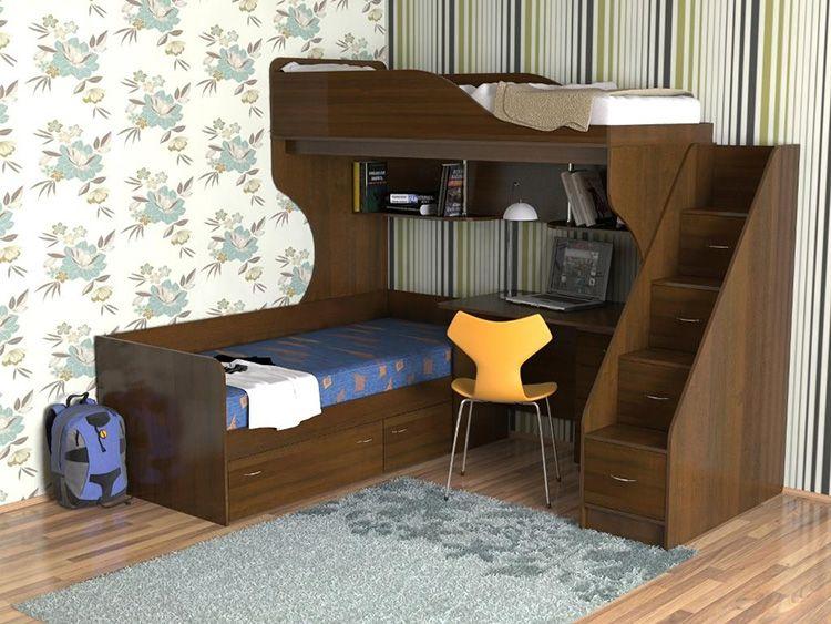 ЛДСП − самый популярный материал для изготовления двухъярусных кроватей