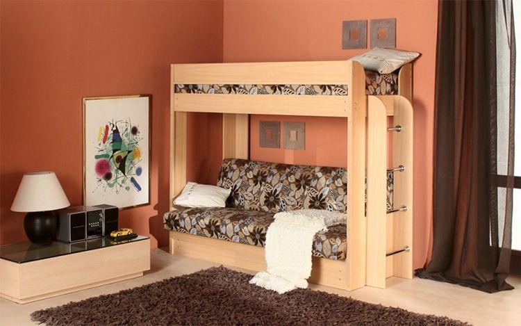 Рекомендуется дополнительно прикрепить двухъярусную кровать к стене для большей устойчивости