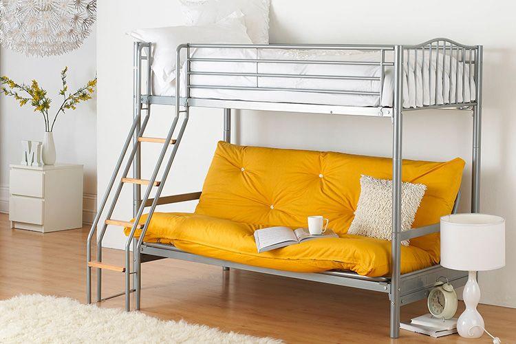 Металлические двухъярусные кровати прекрасно подойдут для стиля «минимализм»