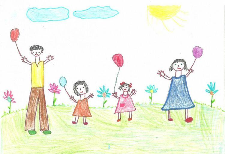Рисунок ребёнка можно оцифровать, распечатать и сделать постер в его комнату