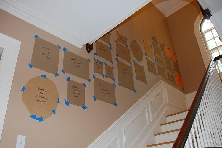 Шаблоны для размещения фотографий на лестнице