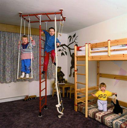 Шведская стенка для детей в квартиру: как выбрать, какие виды существуют и сколько стоит
