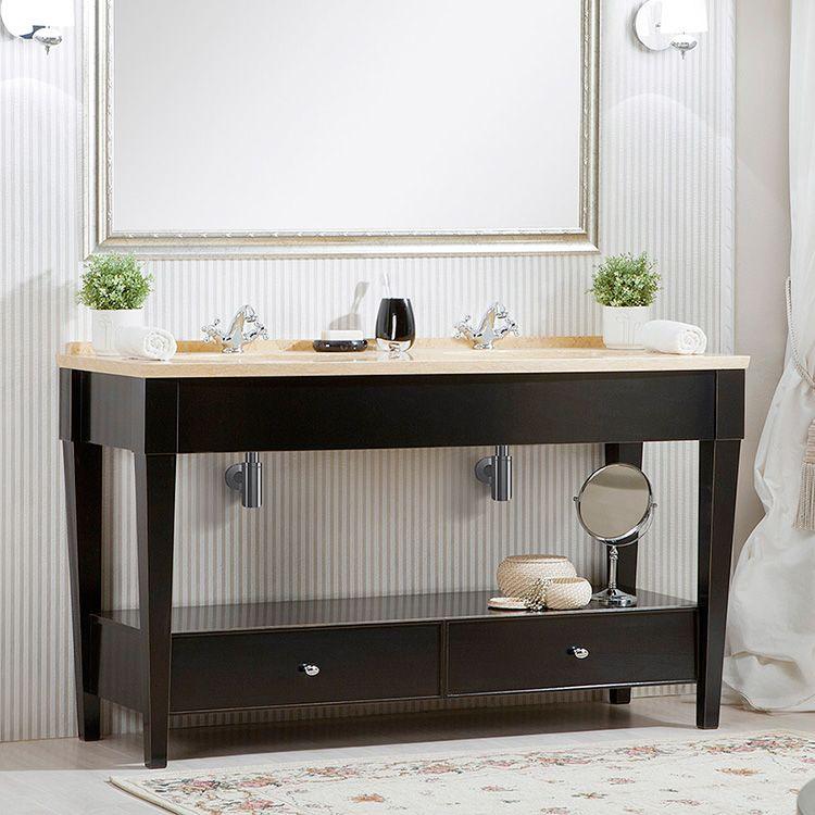 Тумба для сдвоенной раковины – оптимальный выбор для ванных в частных домах
