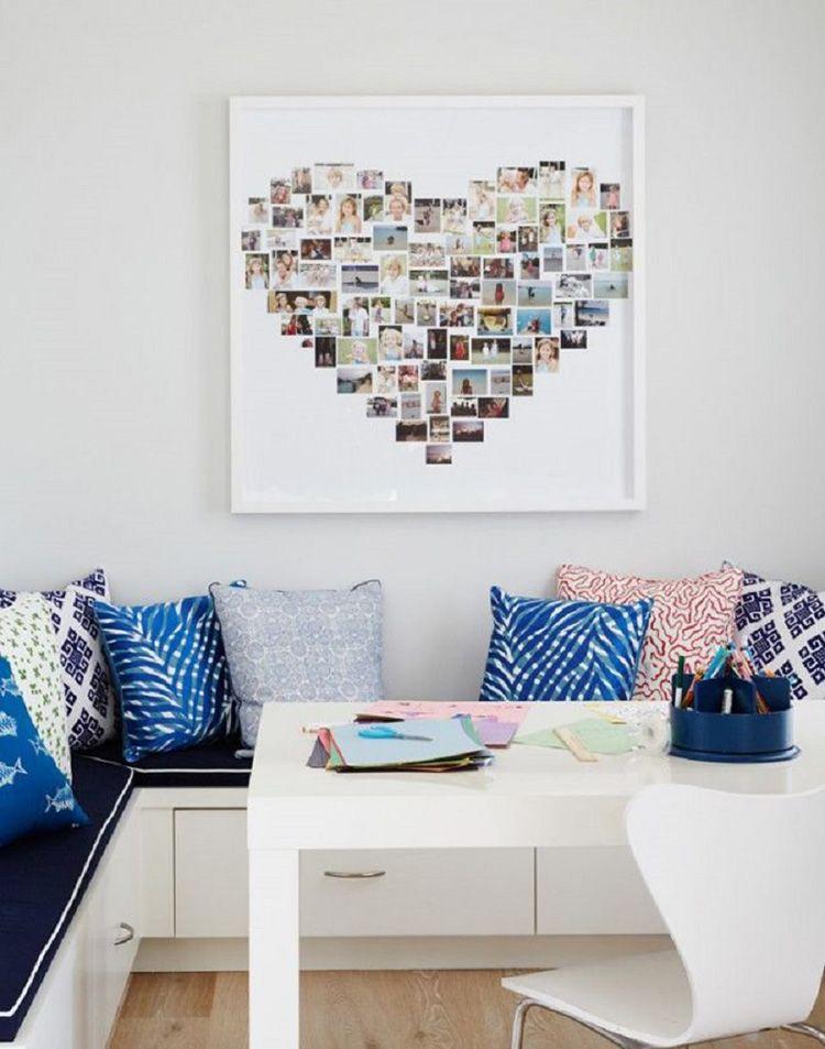 Фотоколлаж в форме сердечка выглядит очень романтично