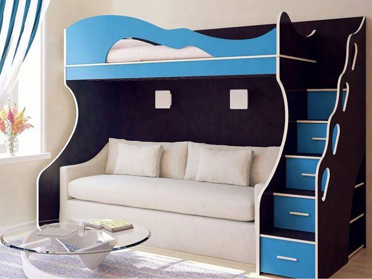 Диван с кроватью наверху – отличное решение для малогабаритных квартир