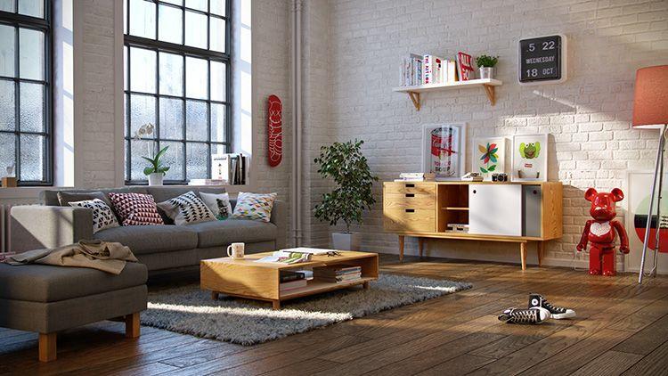 В скандинавском интерьере должен быть минимальный набор практичной и функциональной мебели