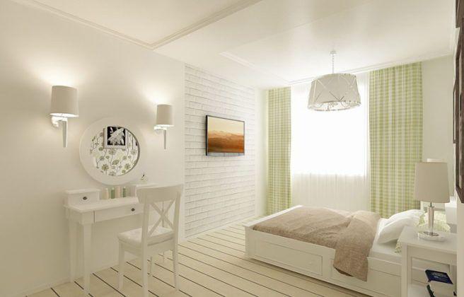 Бра и люстра в скандинавской спальне