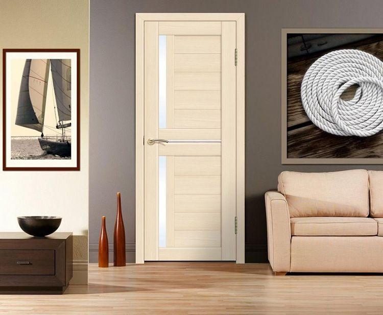Шпонированные межкомнатные двери «белый ясень»