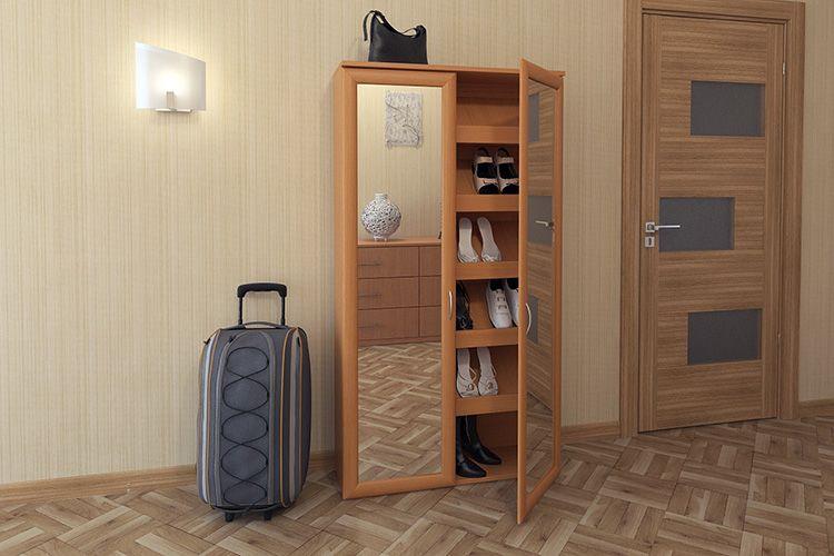 По внешнему виду шкафа не скажешь, что он предназначен для хранения обуви