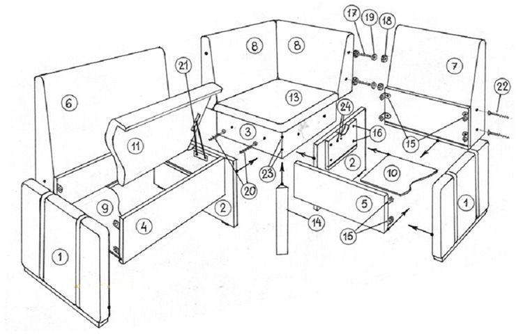 Деталировка самого простого кухонного уголка