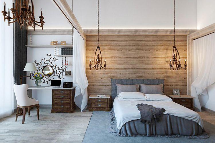 Фото дизайна интерьера в скандинавском стиле: спальня