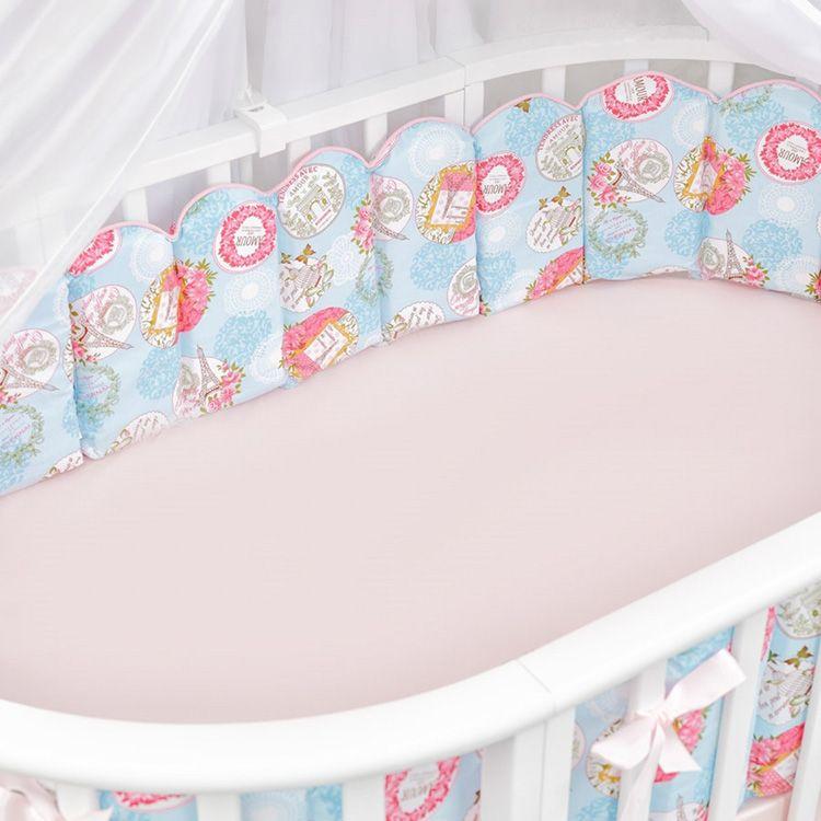 Бортики-вафли для круглой кровати