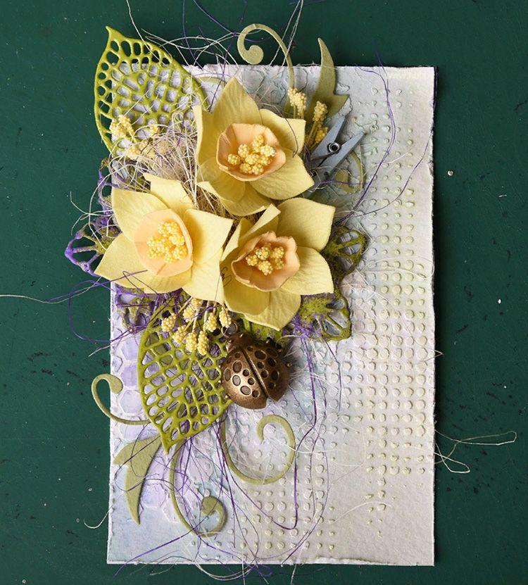 Цветочки из фоамирана на открытку своими руками
