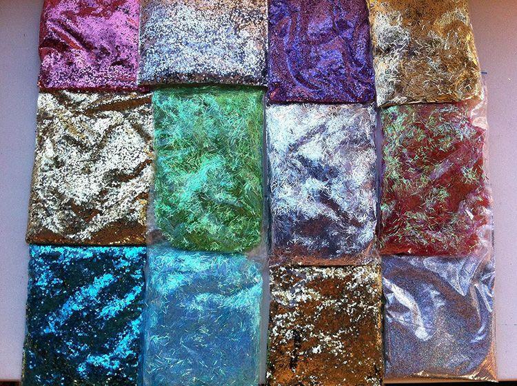 Разнообразие декоративных добавок для жидких обоев