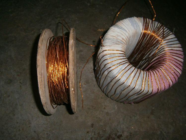 Обмотка трансформатора для споттера медным проводом