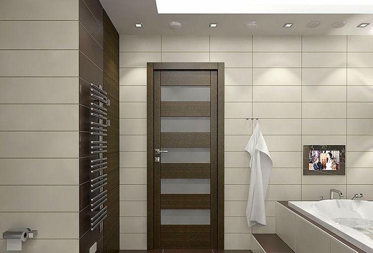 Дверь для ванной комнаты должна гармонировать с остальным интерьером