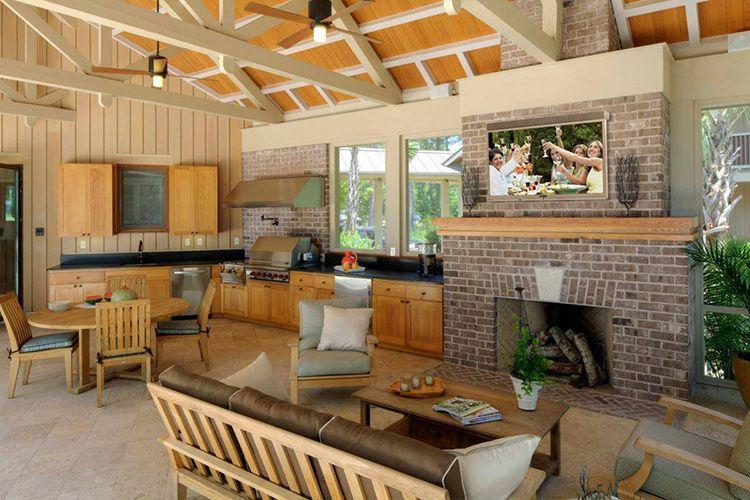 Вариант обустройства столовой зоны и места для отдыха