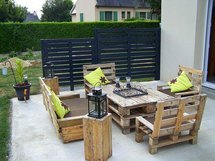 Фото мебели из поддонов для дачи