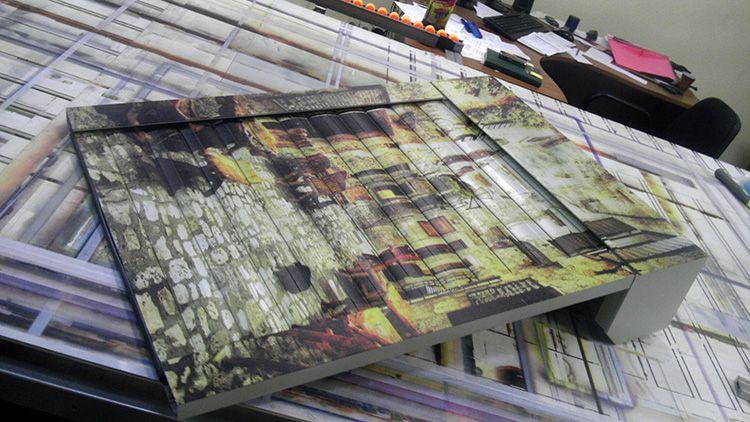 УФ-печать позволяет нанести на полотно роллет-рисунок, отличающийся долговечностью