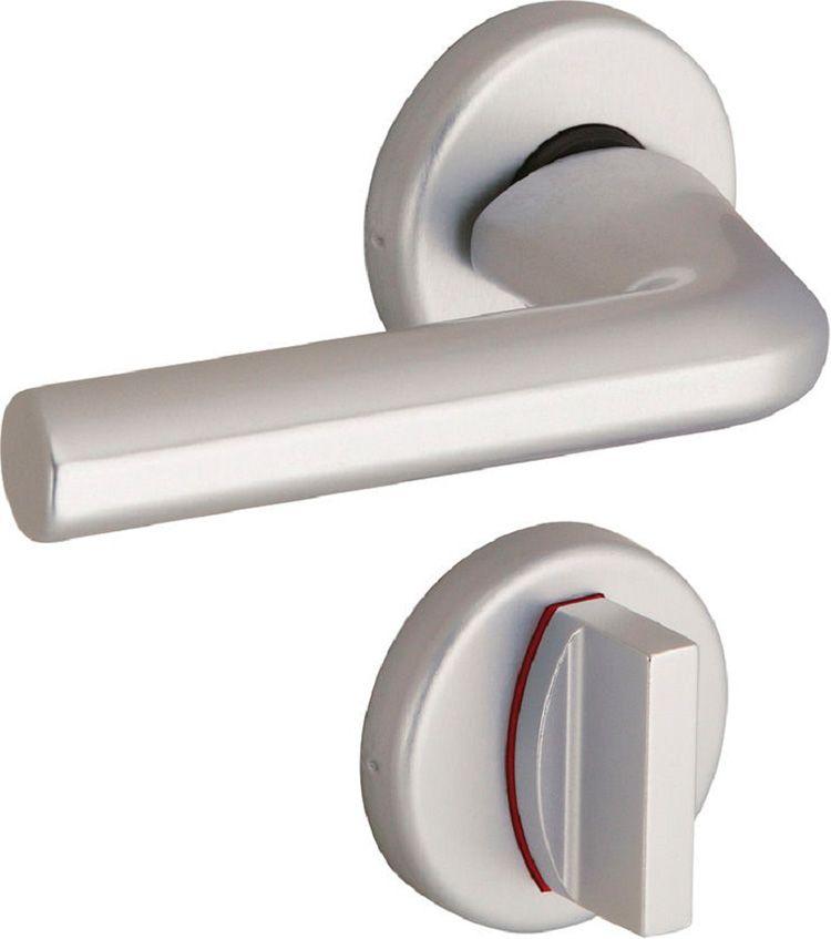 Ручка двери в ванную с отдельным фиксатором