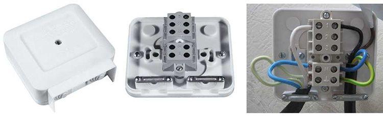 Клеммная коробка для подключения варочной панели к электросети