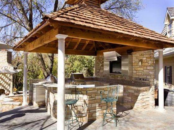 Как обустроить самому летнюю кухню на даче: лучшие проекты с фото
