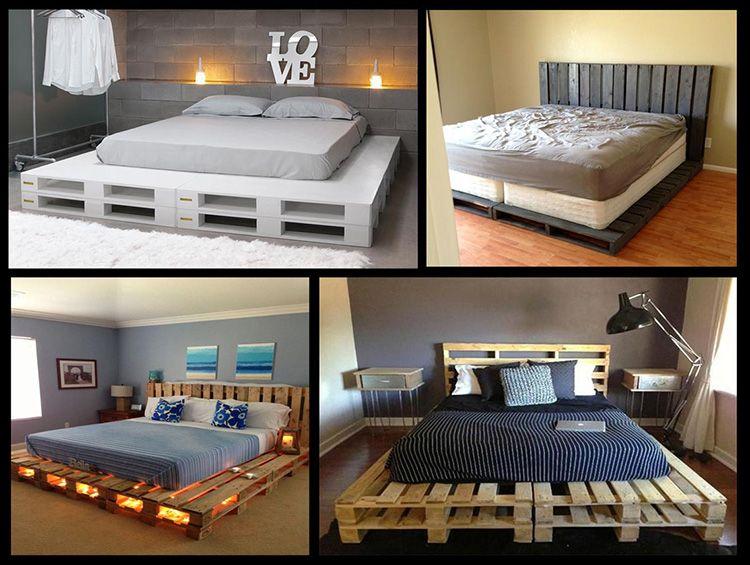 Варианты кроватей из поддонов
