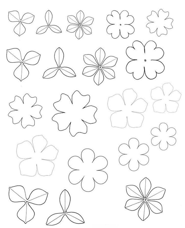 Схемы мелких цветов для украшений из фоамирана