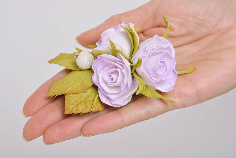 70 Мастер класс цветы из фоамирана