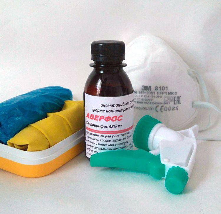 Борьбу химическими средствами следует производить в перчатках и маске