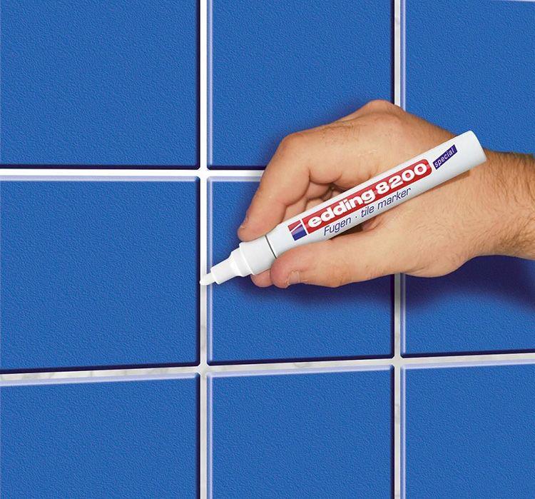 При выборе маркера следует учитывать расстояние между соседними плитками