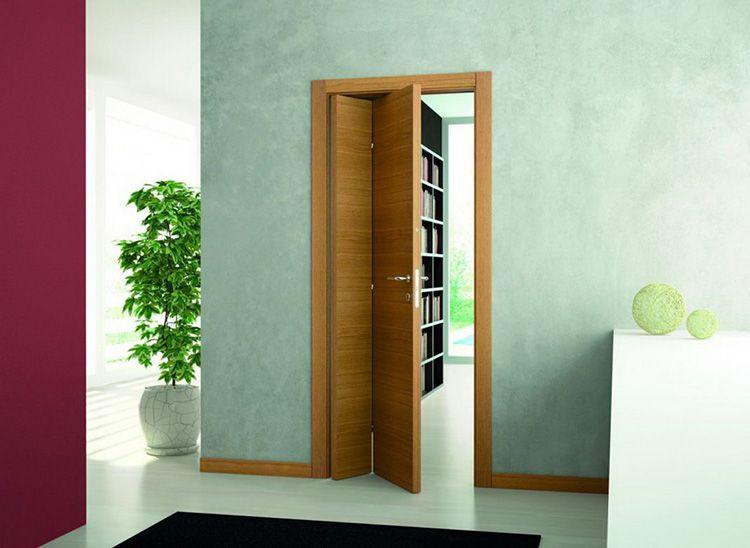 Для небольшого проёма дверь-книжка станет оптимальным решением