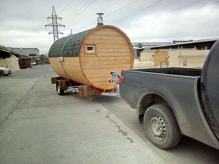 При транспортировке пользоваться баней нельзя