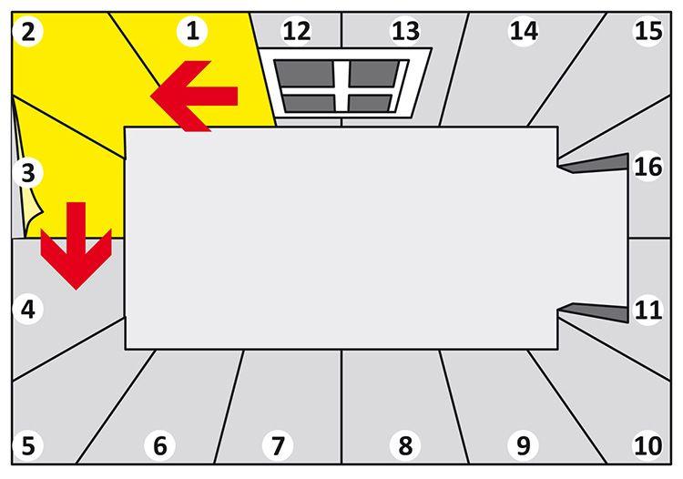 Модель клейки обоев