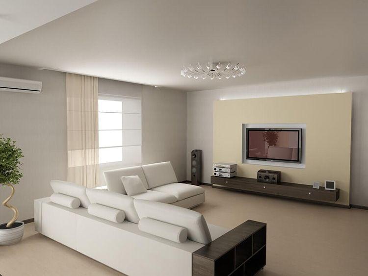 Ровный белый потолок – классика, которая подходит к любому интерьеру