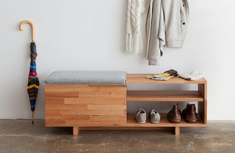 Банкетка-обувница с сиденьем в прихожую