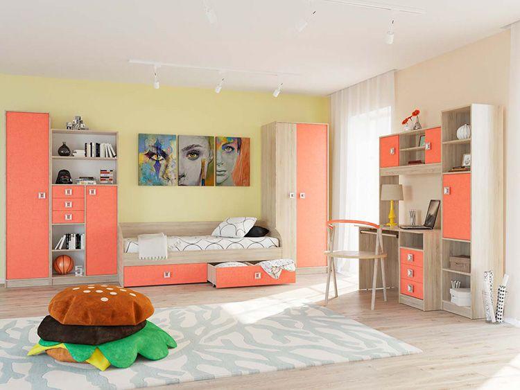 Мебельные модули позволяют каждый раз по-новому обустраивать комнату ребёнка